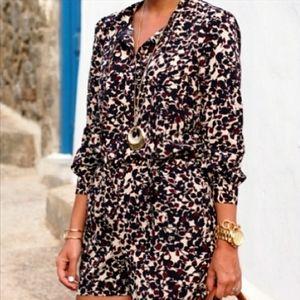 Ann Taylor Loft Long Sleeves Floral Romper